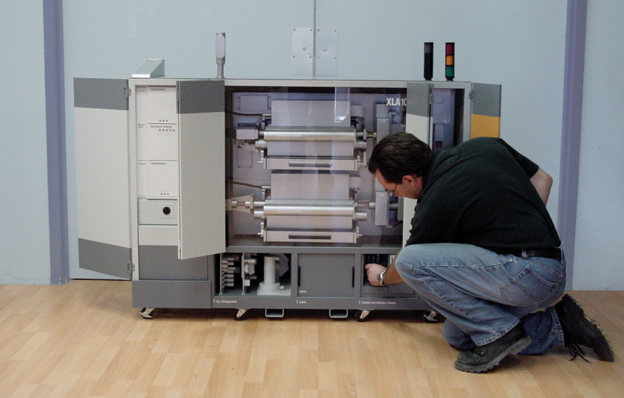Scale model of a prototype printer custom made for a business