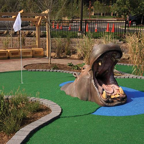 hippo character for mini golf course