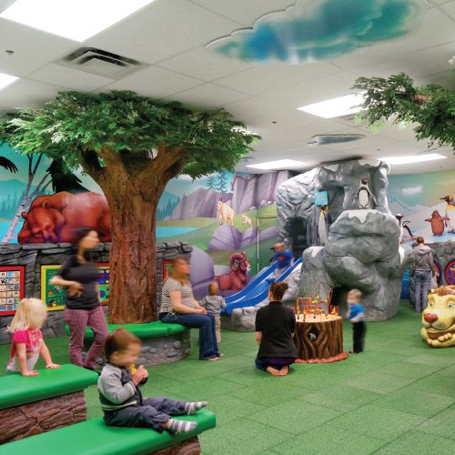 themed play area for kids